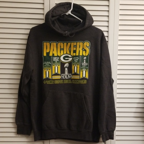 NFL Tops - Green Bay Packers Super Bowl Champion Hoodie